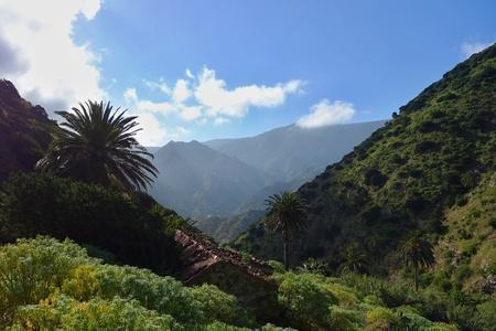 vallehermoso: Route from Vallehermoso to Chorros de Epina Stock Photo