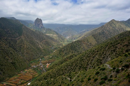 vallehermoso: Vallehermoso valley in La Gomera Canary island