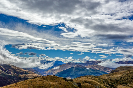 ramble: Cloudy sky on the way to Queenstown Hill New Zealand