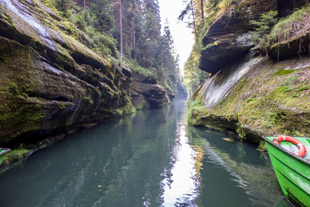 czech switzerland: A ravine in Czech Switzerland National Park