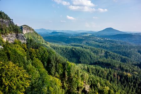 czech switzerland: Una visione in ceco Parco Nazionale Svizzera Archivio Fotografico