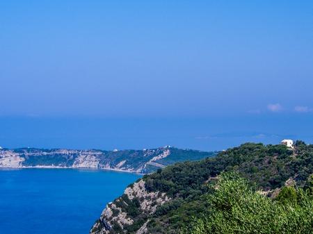 Agios Stefanos cape on Corfu Greek island