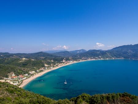 Agios Georgios cape on Corfu Greek island