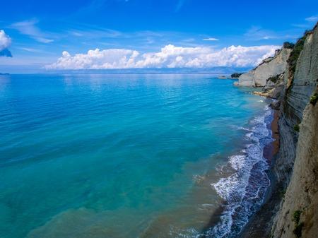 Peroulades cliffs on Corfu Greek island