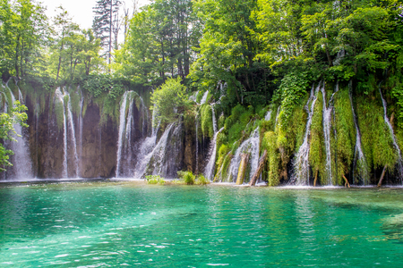 Plitvice Lakes the largest national park in Croatia Stock Photo