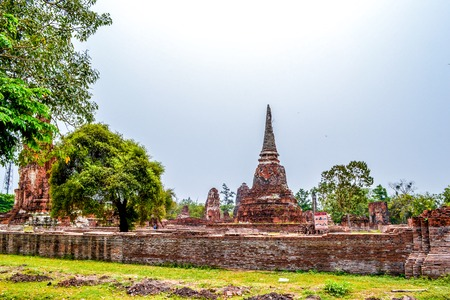 Ruins of Ayutthaya ancient capital of Thailand 免版税图像