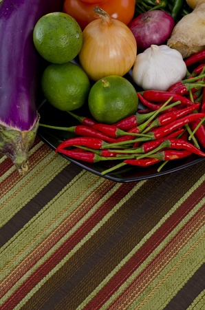 cooking ingredients with lining texture