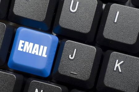 email word on blue and black keyboard button photo