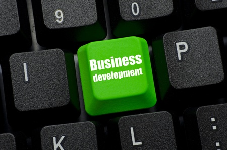 business development word on green and black keyboard button