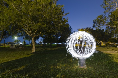abstract light painting in night mode