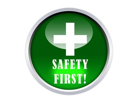 grafisch, glanzend, veiligheid op de eerste knop