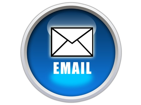 email icon: email word with icon on blue glossy button graphic
