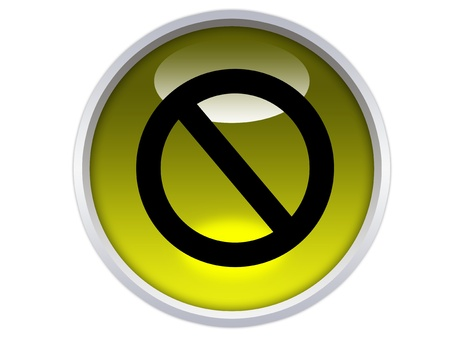 glossy yellow button with  Stock Photo