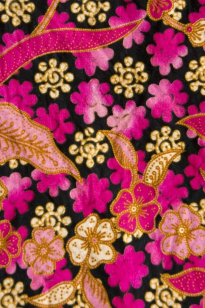 beautiful of batik with floral patterns Stock Photo