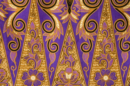 beautiful of abstract batik with floral patterns Stock Photo