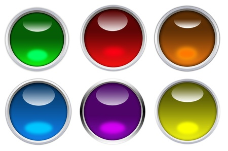 colorful glossy  button graphic Stock Photo