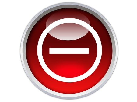 no entry symbol on red glossy signboard isolated over white background
