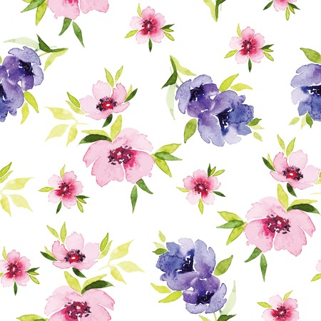 Spring flowers seamless pattern. Spring flowers seamless pattern. Watercolor. For tissue and wrapping paper. Festive pattern. Vector
