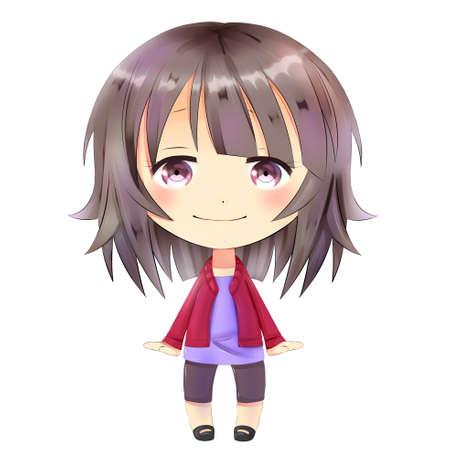 chibi: Anime chibi. Little girl