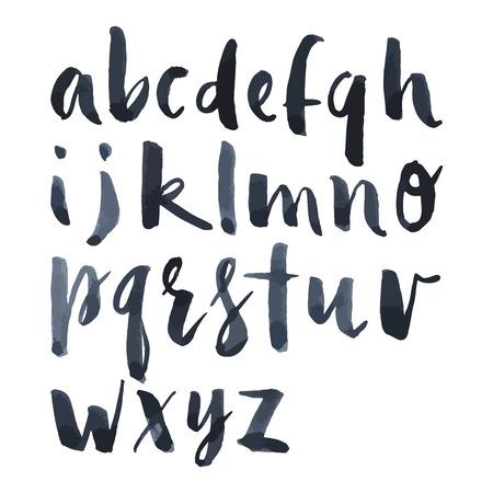 pincel: Alfabeto Ingl�s pincel de acuarela r�mel