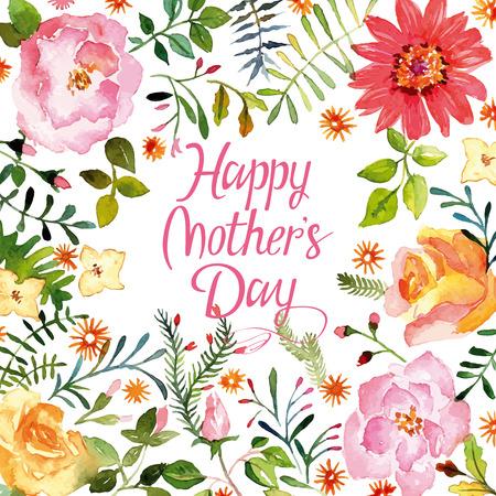Watercolor spring flowers. Artistic composition. Zdjęcie Seryjne - 38365225