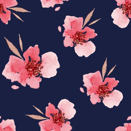 ramo de flores: Flores de la acuarela sin patr�n. Adecuado para embalaje y papel de regalo. Hecho A Mano.