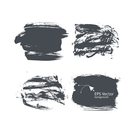 Ink vector backgrounds for design. Dry brush effect it. spots Vector
