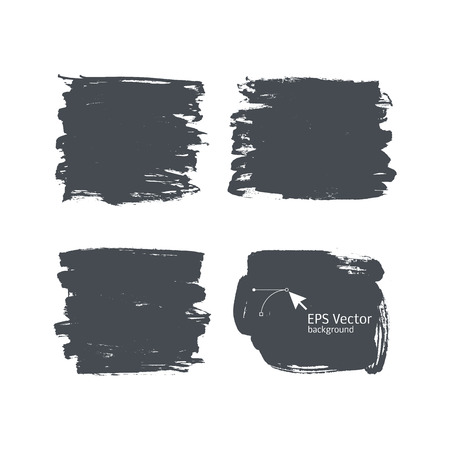 dry brush: Ink vector backgrounds for design. Dry brush effect it. spots Illustration
