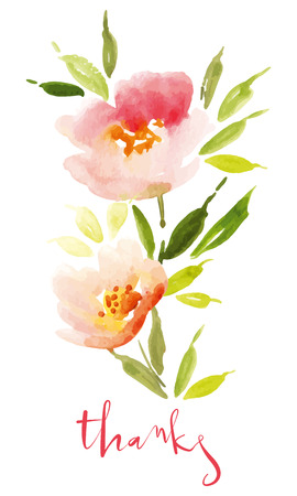 drown: Watercolor flower wreath Illustration Illustration