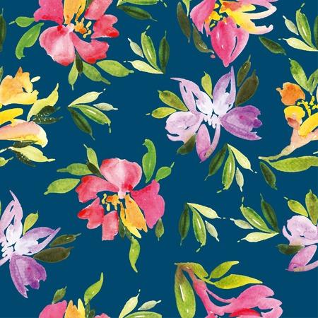 petites fleurs: motif de fleur d'aquarelle Illustration