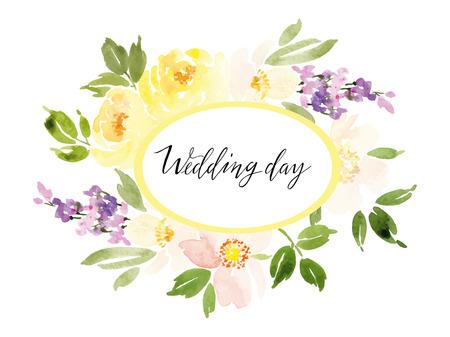 Aquarell Grußkarte Blumen. Handmade. Herzliche Gratulation. Standard-Bild - 40702586