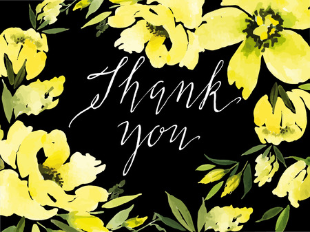 greeting card background: Watercolor greeting card flowers. Handmade. Congratulations.