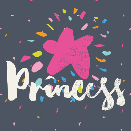 princesa: Imprimir las camisetas para los niños. Postal.