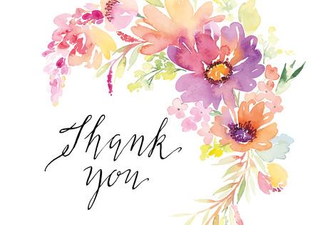 Aquarelle fleurs de cartes de voeux. Handmade. Banque d'images - 42524154
