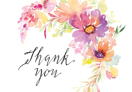 dessin fleurs: Aquarelle fleurs de cartes de voeux. Handmade. Illustration