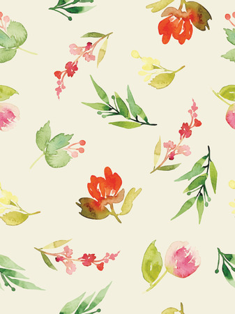 flower structure: Watercolor flowers. Seamless pattern. Vector. Illustration. Gentle Illustration