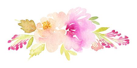 Acquerelli cartolina fiori. Handmade. Archivio Fotografico - 43408532