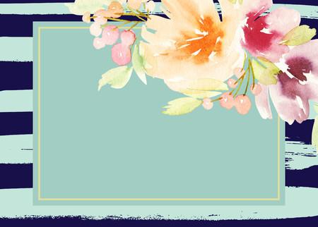 꽃 인사말 카드입니다. 파스텔 색상. 수공. 수채화 그림. 결혼식, 생일, 어머니의 날. 신부 파티.