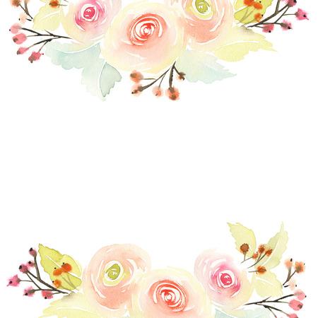 Wenskaart met bloemen.