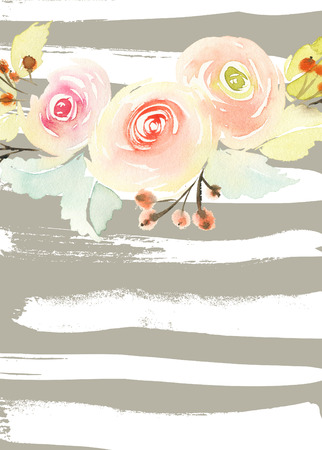 sottofondo: Biglietto di auguri con i fiori.