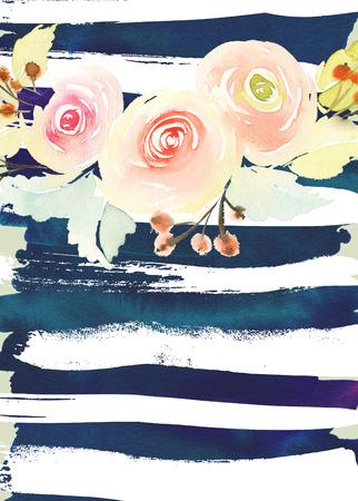 꽃 인사말 카드입니다.