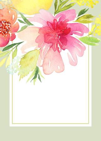 인사말 카드 꽃입니다.