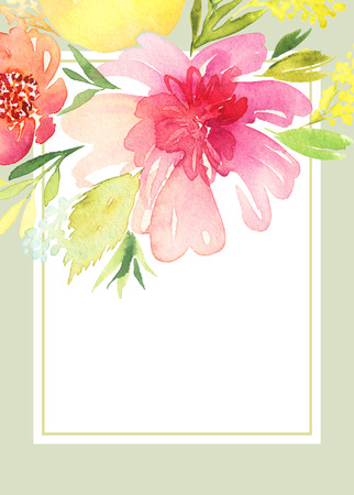 Greeting card with flowers. 版權商用圖片