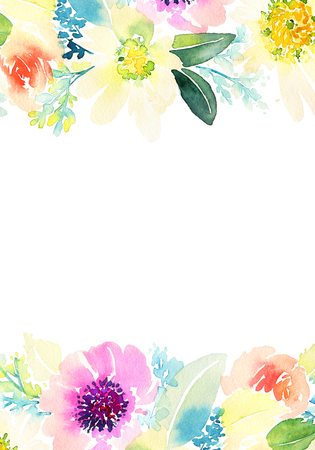 day: Greeting card with flowers. Stock Photo