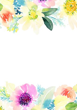 Greeting card with flowers. Standard-Bild