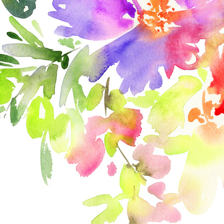 gamma: Abstract background for a card. Watercolor painting. Handmade. Paint spots. Cold gamma.