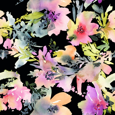 abstract flowers: Abstract watercolor flowers