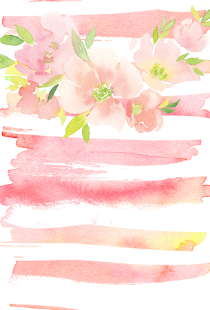 Cartão com flores. Cores pastel. Feito à mão. Pintura aquarela. Casamento, aniversário, dia das mães. Chá de panela.