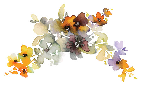 mother s: Flowers watercolor illustration. Manual composition. Mother s Day, wedding, birthday, Easter, Valentine s Day. Pastel colors Spring Summer