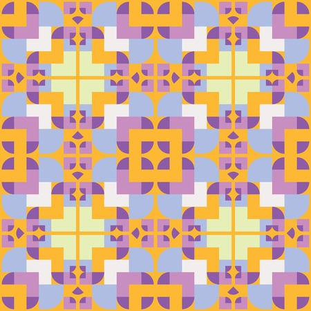 Abstract geometric seamless pattern ornament. Vector.